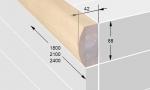 Sauna Banklatten ESPENBANKLATTE FÜR DIE VORDERSEITE SHA 42x88x1800-2400mm