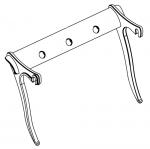 Pièces de rechange Composants electroniques Pièces de rechange de TylöHelo sauna poêles él. TYLO MP/SPORT SUPPORT DE MONTAGE