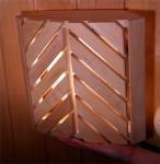 Sauna lamp shades SAUNA CORNER LAMP SHADE V